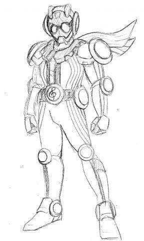 20 Inspirasi Gambar Kamen Rider Sketsa Tea And Lead